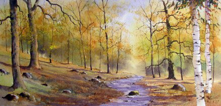 woodland watercolour